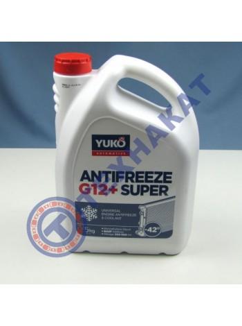 Жидкость охлаждающая YUKO Antifreeze -40 Super G12+ красный (канистра 5л)