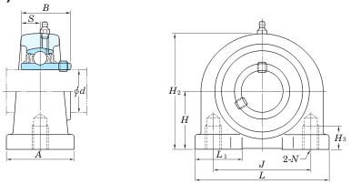 схема корпусного подшипника UCPA